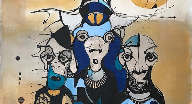 Oğuz Yalım'ın 'Koca Kafalar' Sergisi Goba Art&Design'da