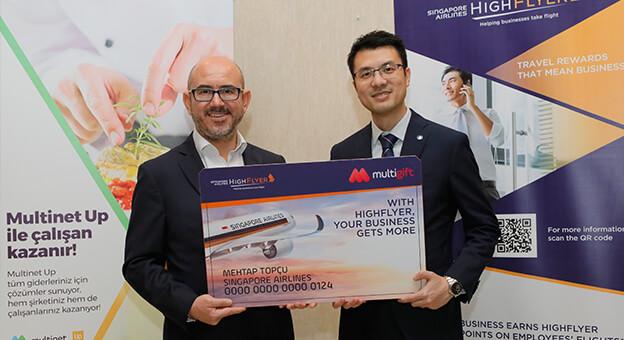 Singapur Havayolları ve Multinet'ten İşbirliği