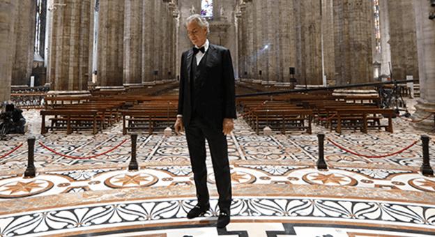 """Andrea Bocelli'den Çok Özel Bir Performans: """"Music For Hope"""""""