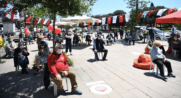 Türkiye'nin ilk sosyal mesafeli etkinliği gerçekleşti
