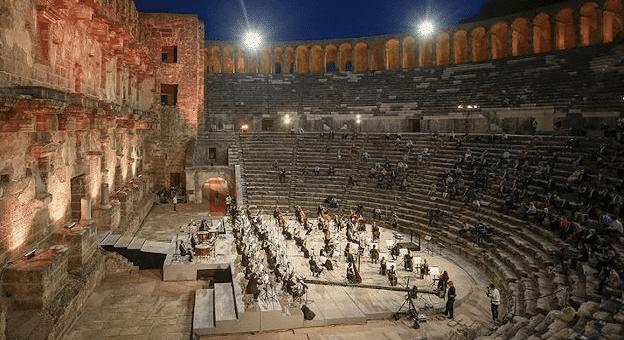 """Aspendos'ta """"Yeniden keşfet"""" tanıtım etkinliği göz doldurdu"""