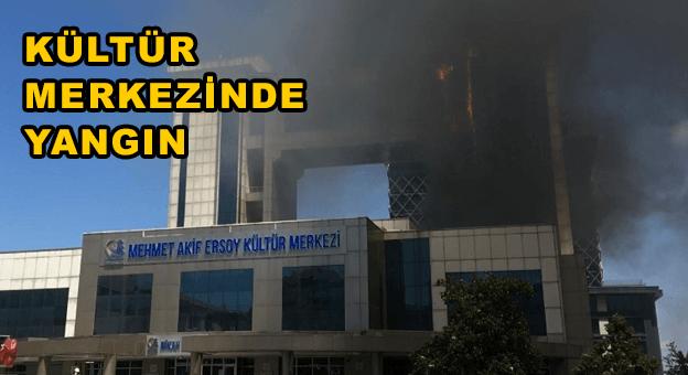 Bayrampaşa'da Kültür Merkezi'nde yangın çıktı