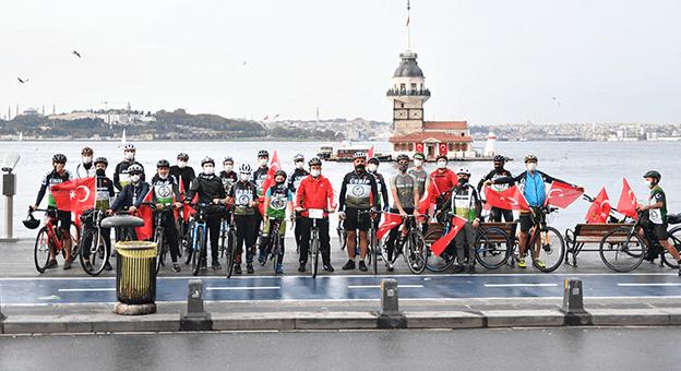 Bisikletliler, Cumhuriyet Bayramı'nda Bir Araya Geldi