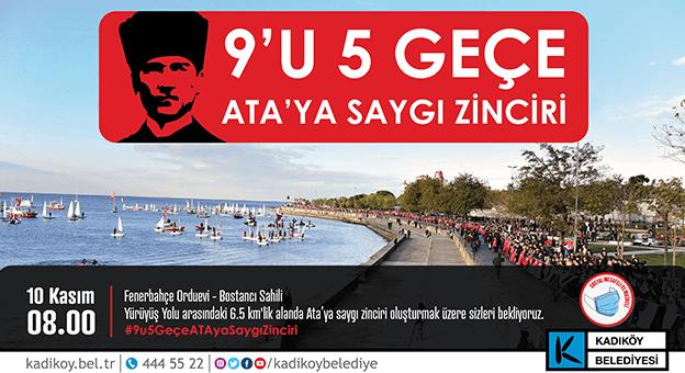 10 Kasım'da Sosyal Mesafeli ATA'ya Saygı Zinciri Düzenlenecek