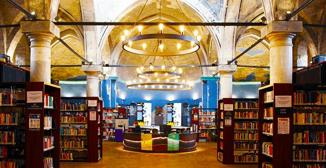 Kiliseden dönüştürülen kütüphaneye 15 ayda 270 bin ziyaretçi