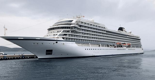 Norveç bayraklı kruvaziyer gemisi Bodrum'a geldi