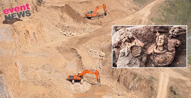 Kibele heykeli bulunan 2 bin 300 yıllık kaleye taş ocağı tehdidi