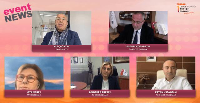 TÜRSAB 1. Uluslararası Turizm Forumu Pandemiyle Değişen Konaklama Sektörü Paneli Yapıldı
