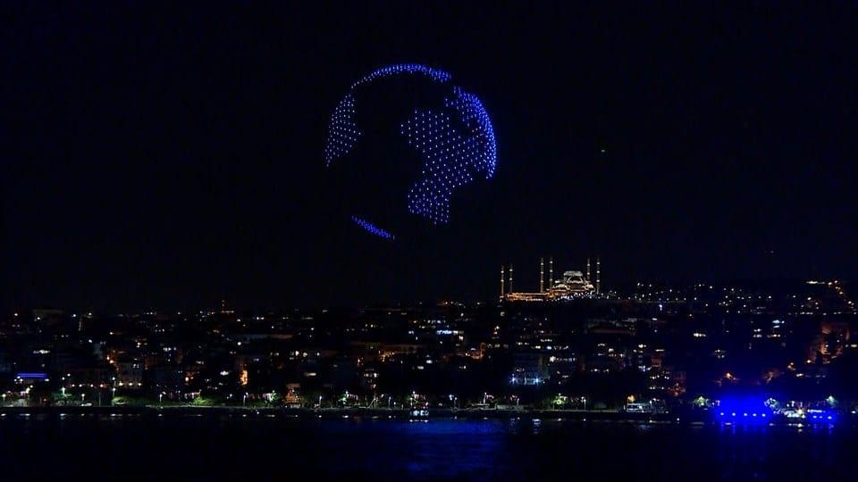 BRF Event, 580 Drone ile İstanbul Boğazında bir ilke imza attı